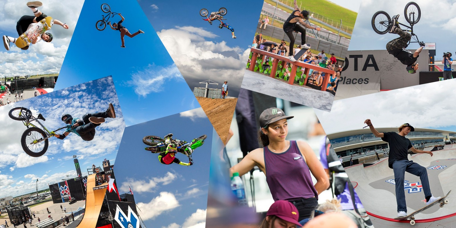 Photo highlight edit of the 2016 Summer X-Games.
