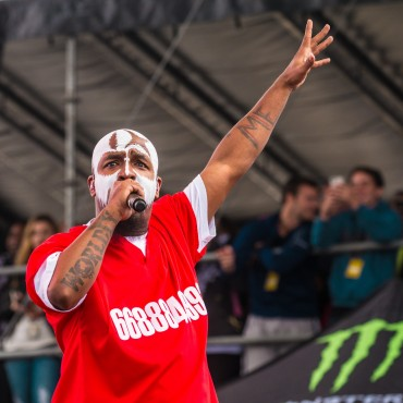 Tech N9ne at the 2015 Kansas City Rock Festival