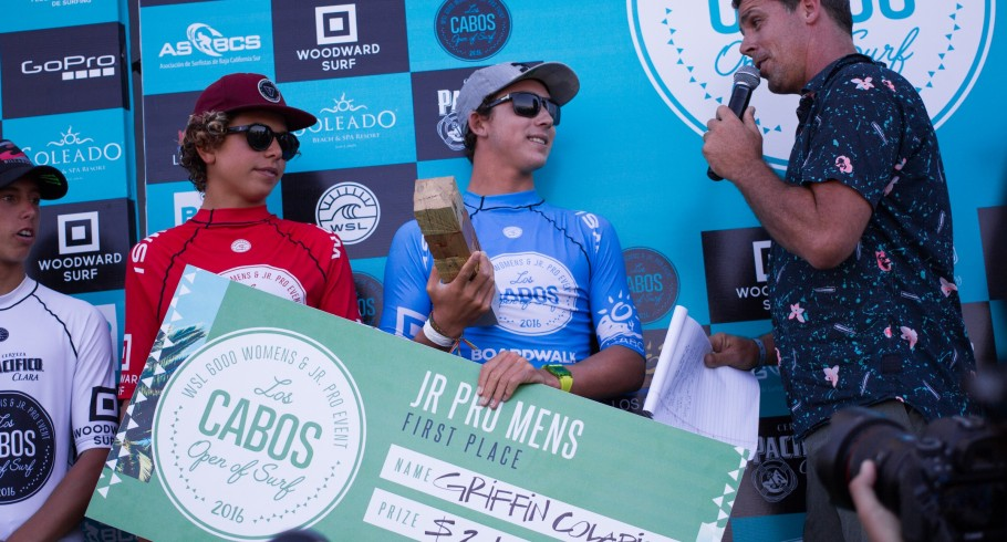 Griffin Colapinto won Los Cabos Open of Surf 2016