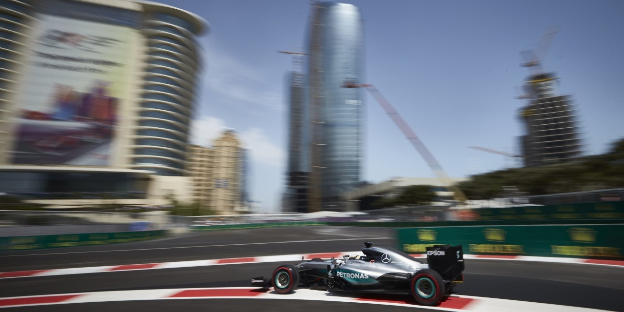 Images from qualifying in Baku for the 2016 European Grand Prix in Azerbaijan