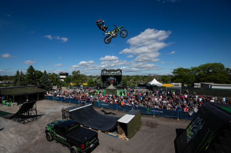 Freestyle Motocross, Skateboarding and other activities in the Monster Energy Compound during F1 Canadian Grand Prix in Montreal