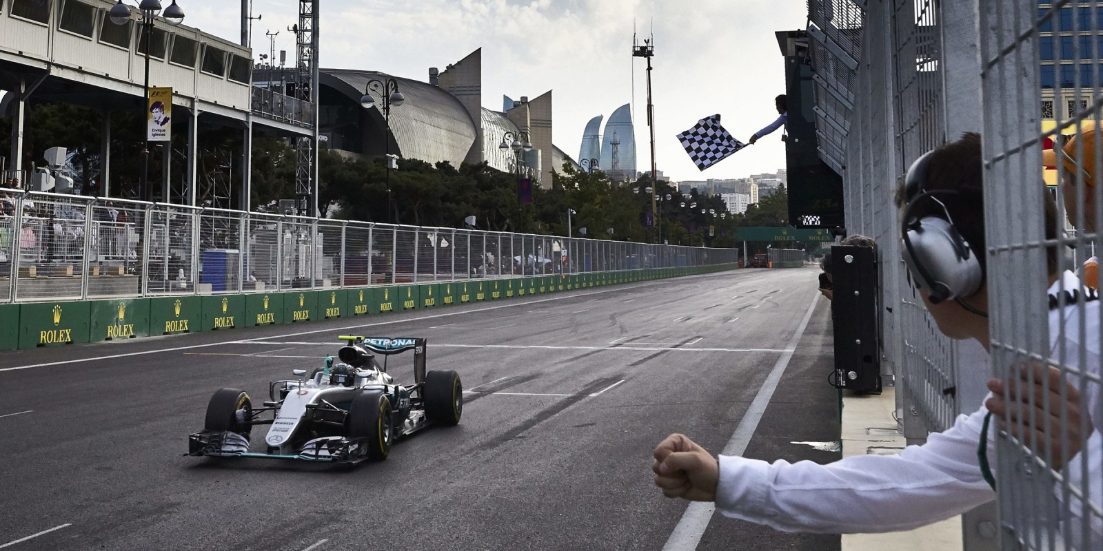 Race day images from the 2016 European Grand Prix in Baku Azerbaijan