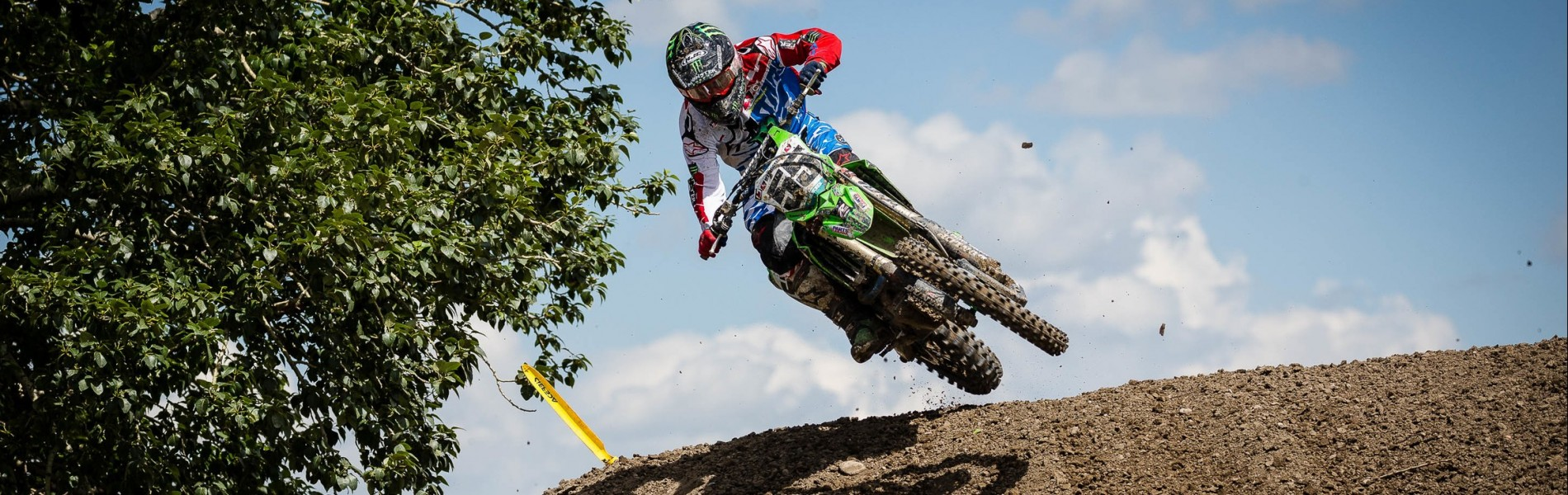 Action and lifestyle shots of Team Monster Energy Alpinestars Kawasaki from Round 3 of the Canadian MX Nationals in Calgary, Alberta.