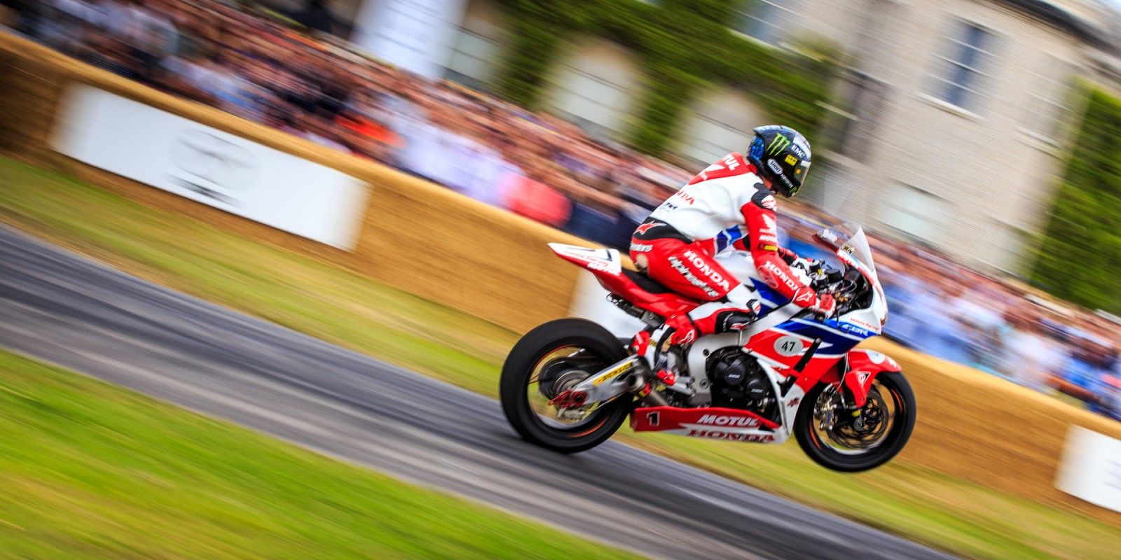 John McGuinness at Goodwood FOS