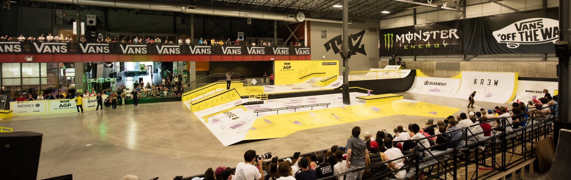 Monster Girls, Lifestyles, Ambiance and action shots from the 2016 AM Getting Paid skateboard event.