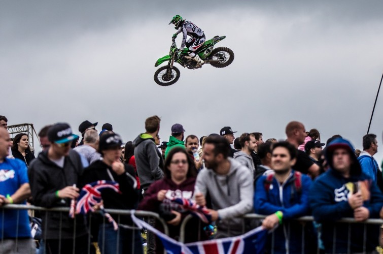 Dylan Ferrandis at the 2016 MXGP in UK