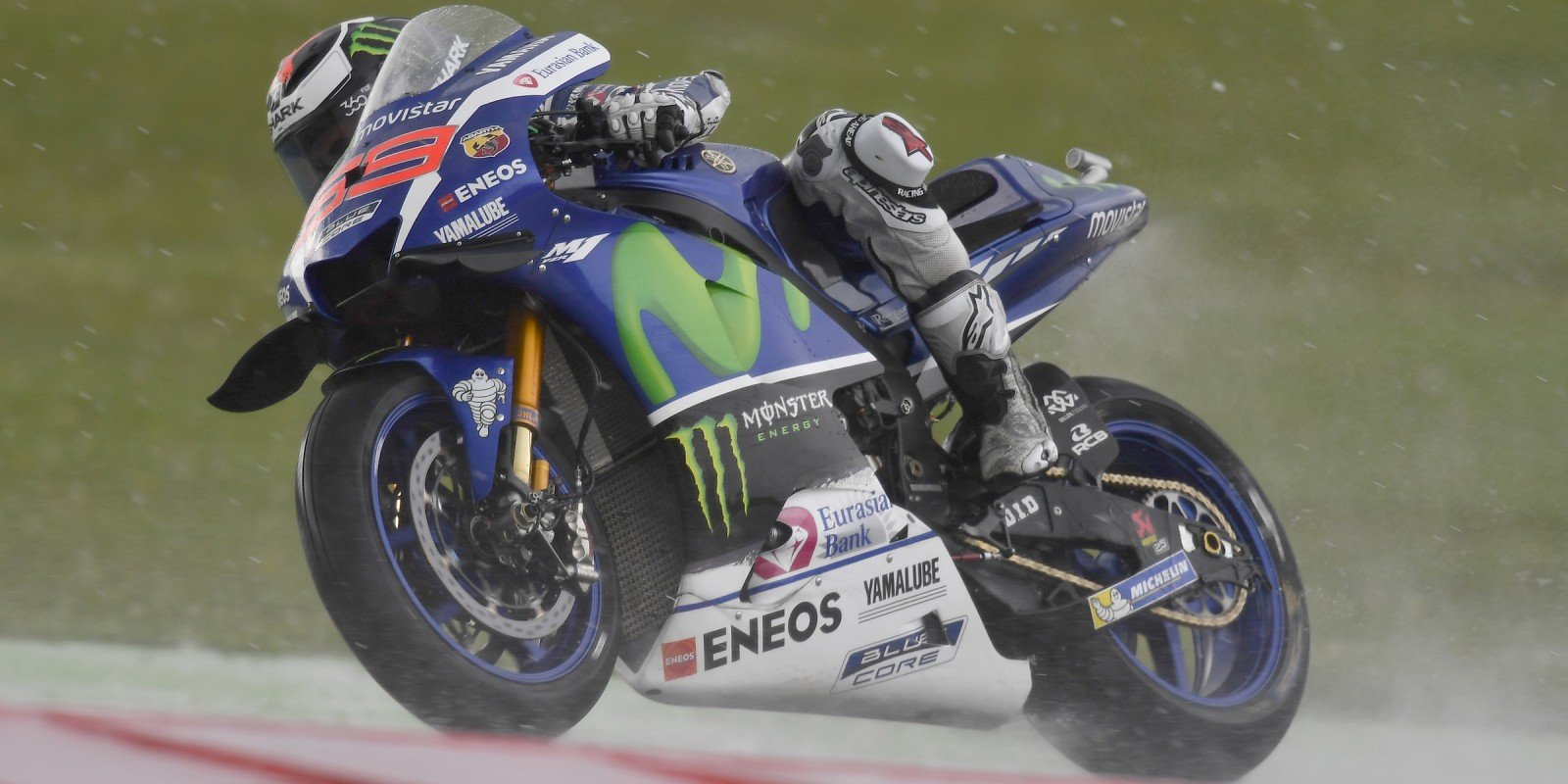 Monster athletes compete in the 2016 MotoGP season in Assen