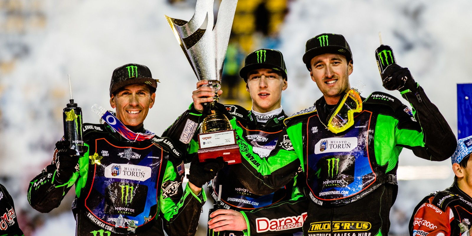 Images of Team Monster Energy at Speedway Best Pairs round one