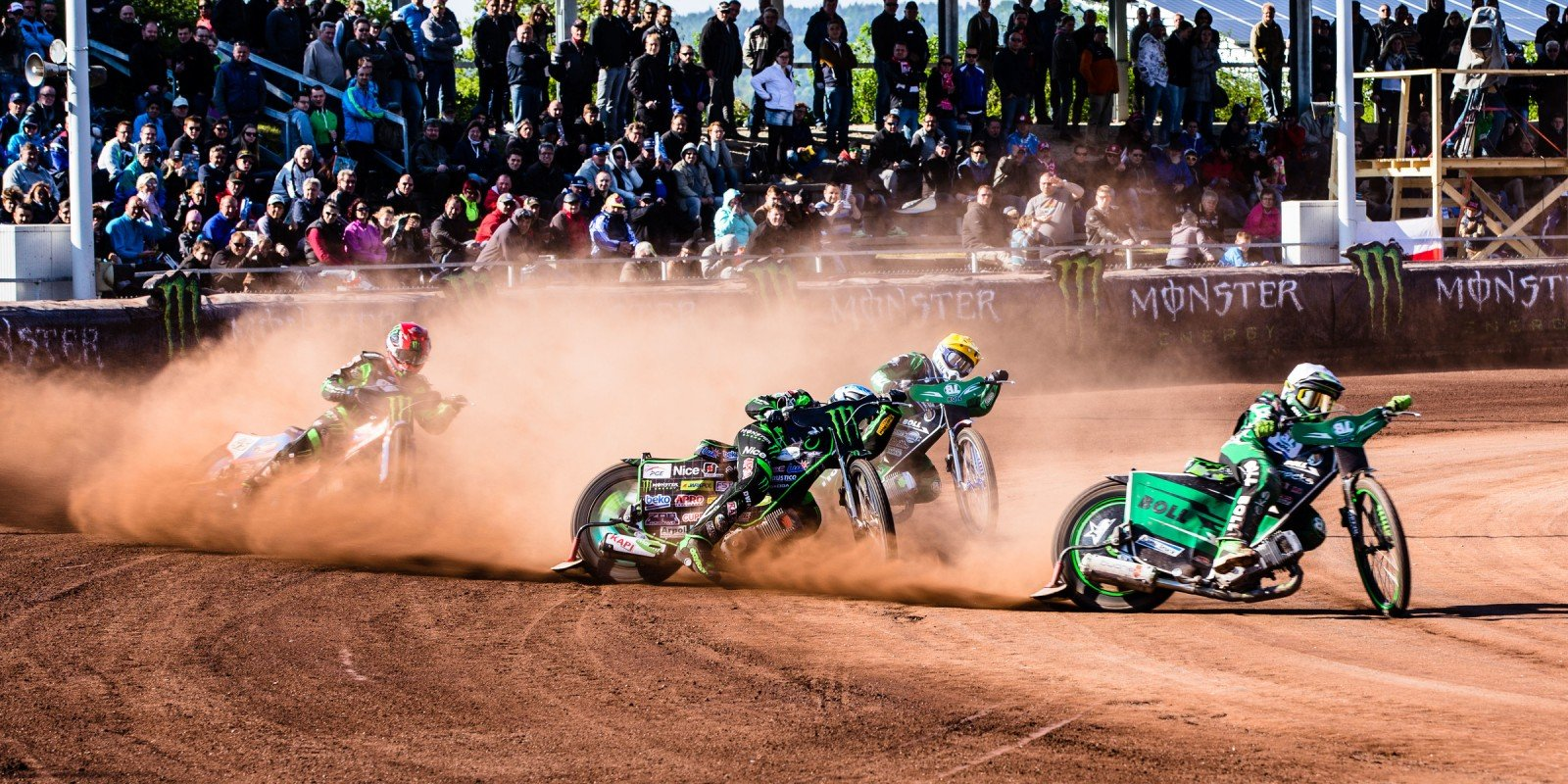 Images from round 2 of the speedway best pairs series in Landshut, Germany