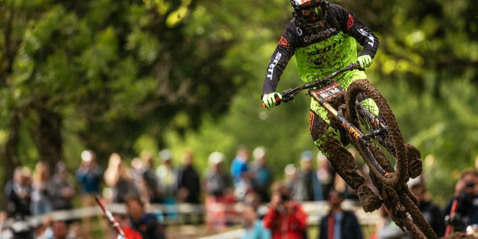 Brendan Fairclough during the 2016 mountain bike CWX Les Gets in the French Alps