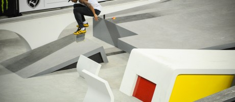 Images of Ishod Wair in action at Los Angeles stop of Street League Series