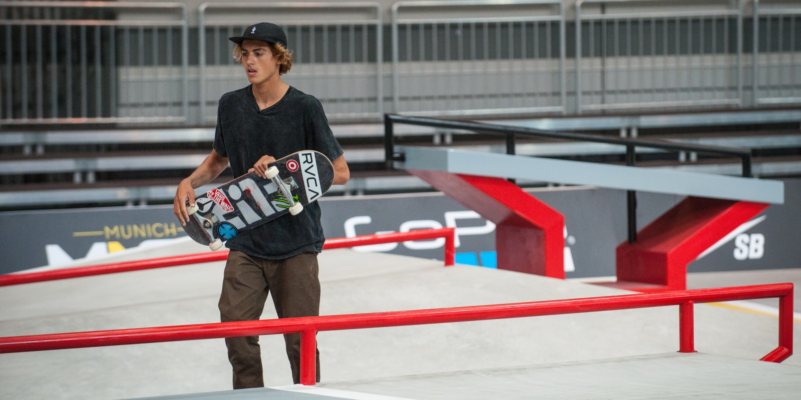 Curren Caples during practice for the SLS 2016 season in Munich, Germany