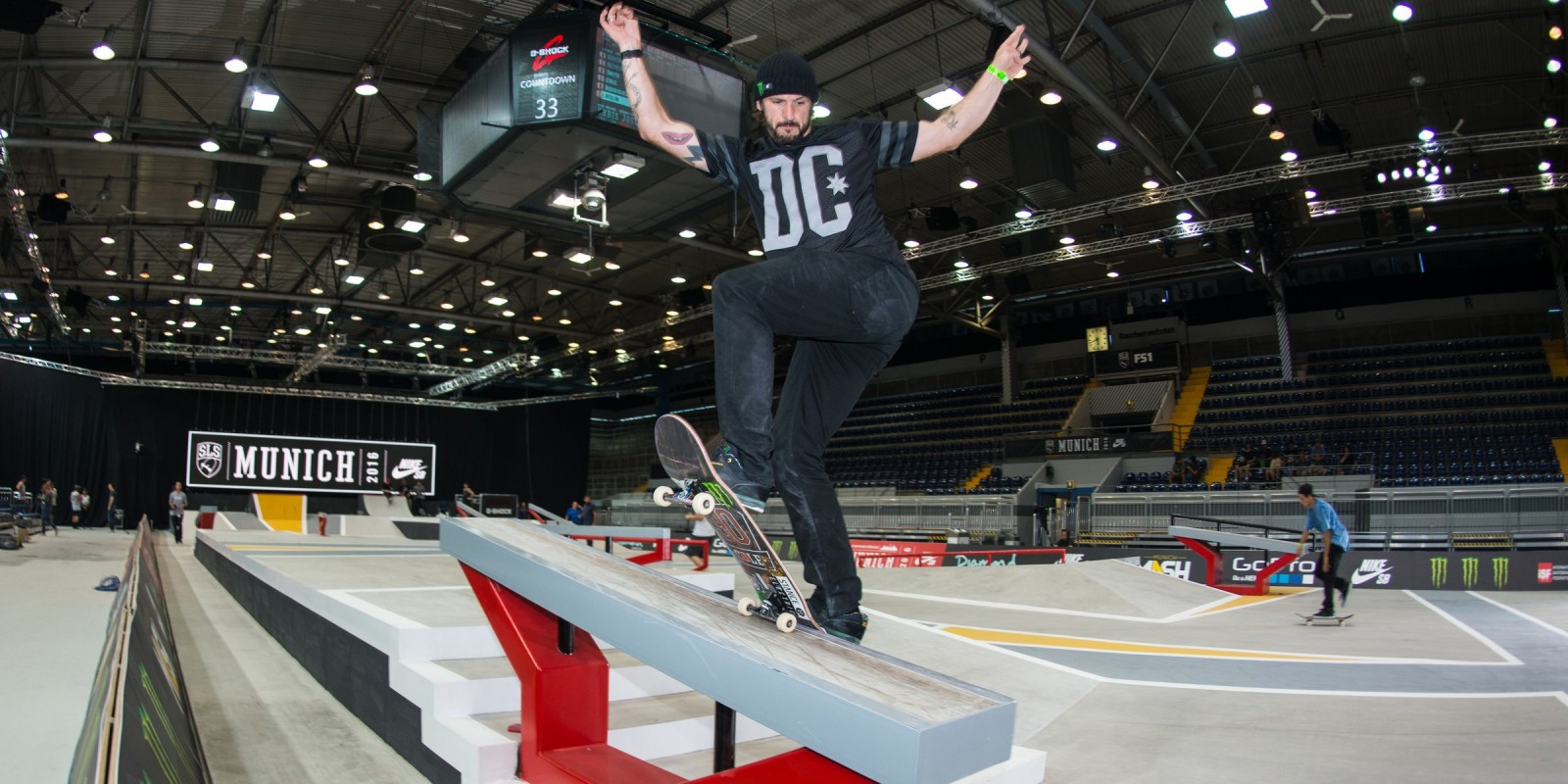 Chris Cole during practice for the SLS 2016 season in Munich, Germany