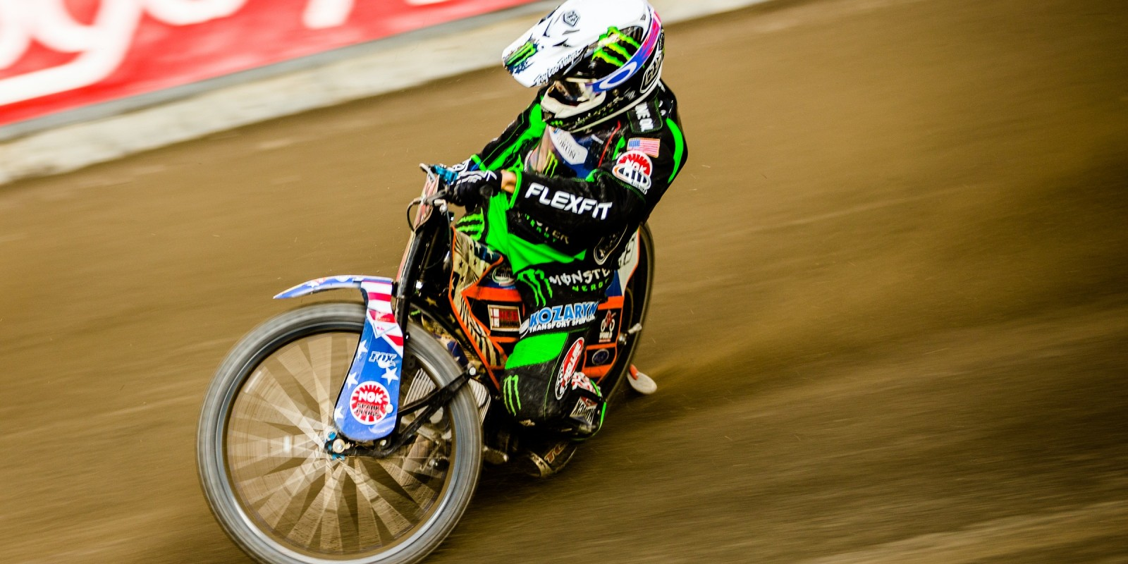 Images of Greg Hancock from the first round of the Speedway Best Pairs race