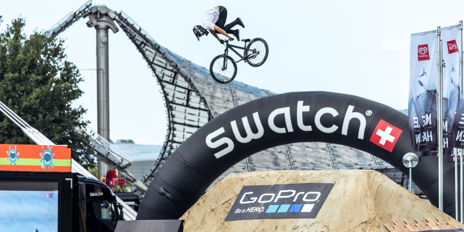 Max Fredriksson competing at Swatch Primeline in Munich.