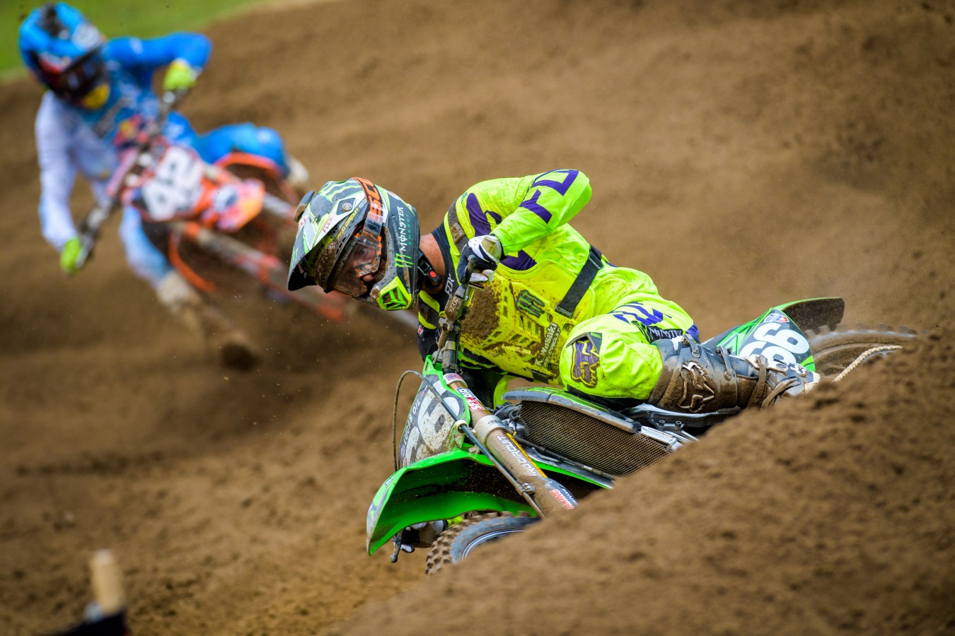 Monster athletes compete in the 2016 MX Nationals season in Southwick, MA