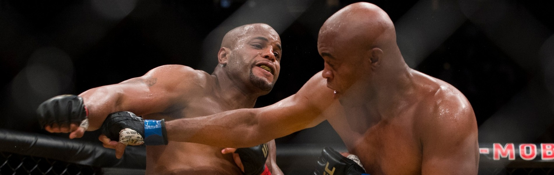 Daniel Cormier throws a punch against Anderson Silva during UFC 200 at T-Mobile Arena on July 9, 2016 in Las Vegas, Nevada.