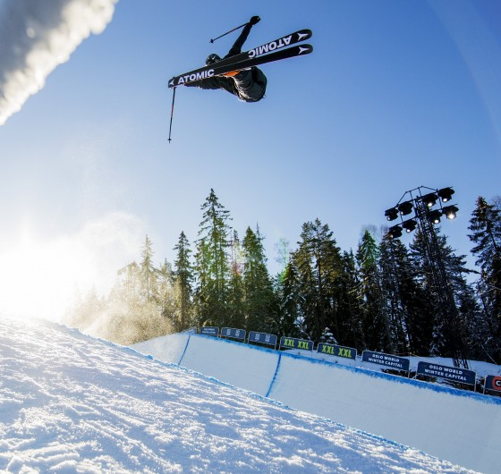 Gus Kenworthy competes in the 2016 Winter X Games in Oslo.