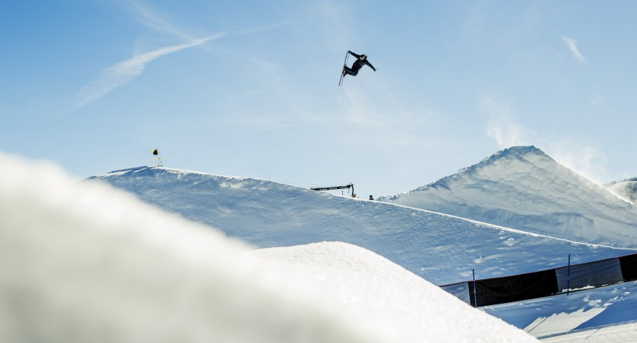 Gus Kenworthy competing in Aspen, CO at Winter X Games