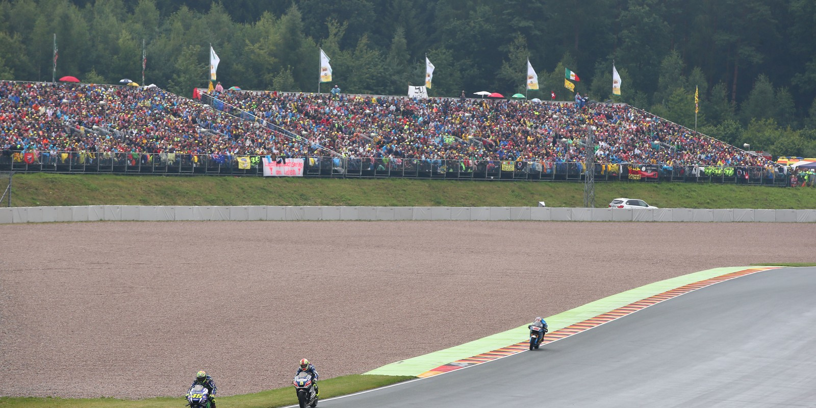 Action shots of Sunday's race, MotoGP Sachsenring, Germany