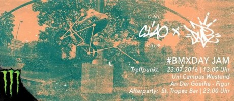 BMX DAY Graphic for Germany. Tour stop in Frankfurt.