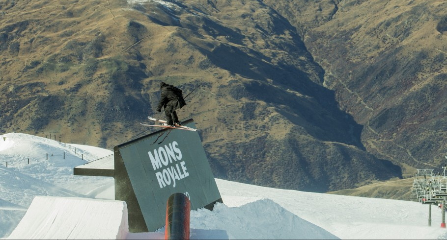 Jossi Wells competes in the New Zealand Winter games.
