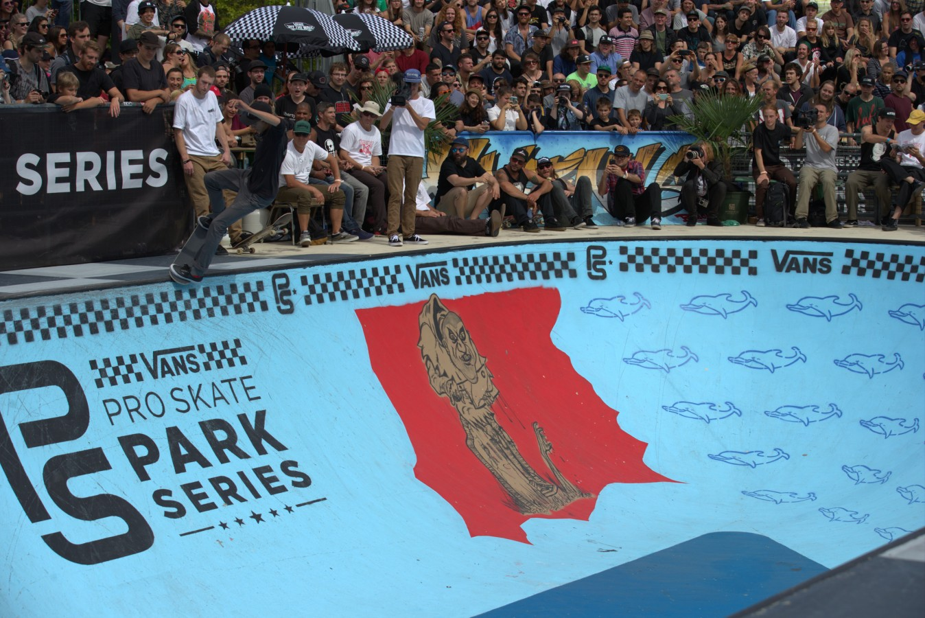 Curren Caples during the 2016 Vans Skate Park Series in Vancouver, Canada