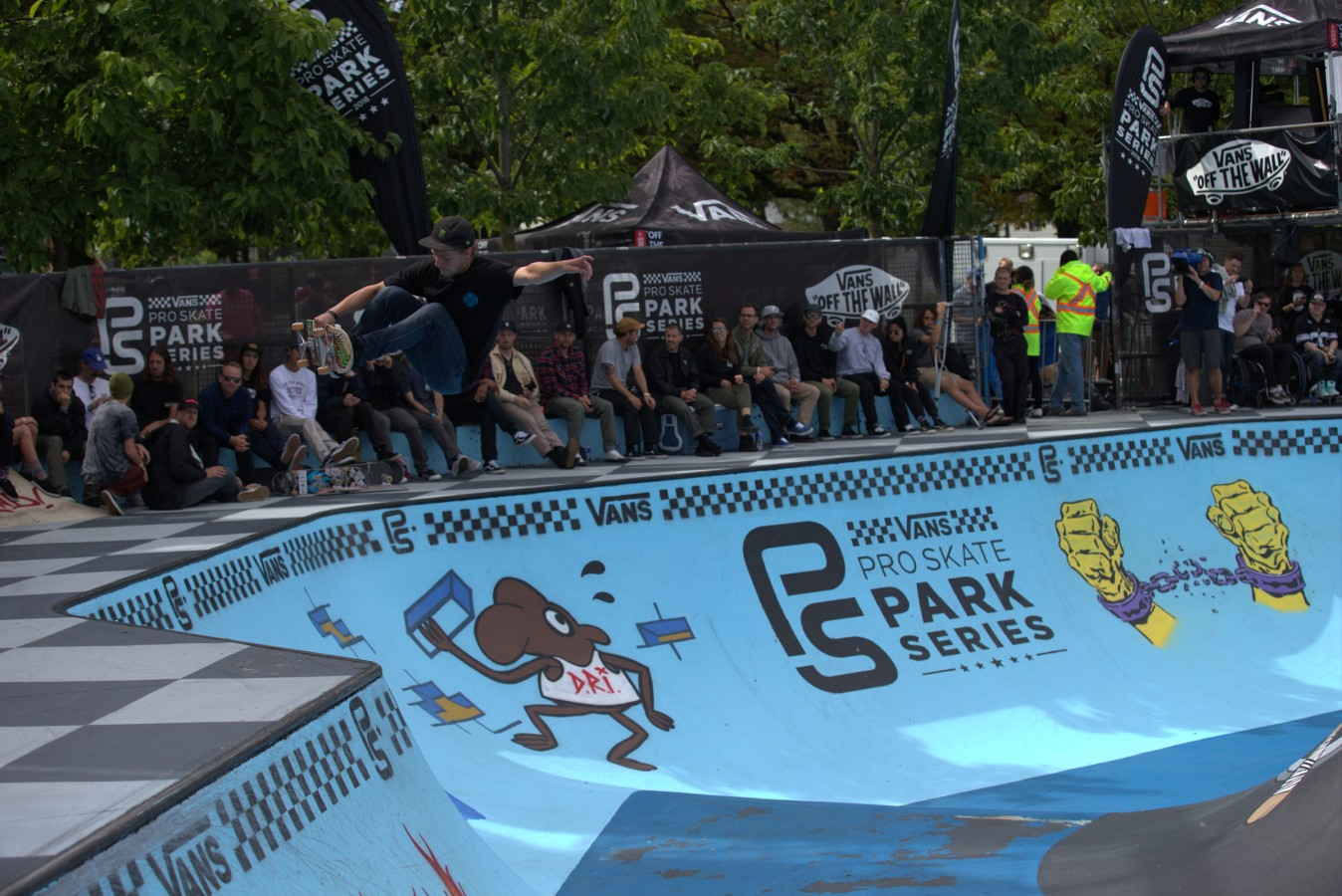Ben Hatchell during the 2016 Vans Skate Park Series in Vancouver, Canada