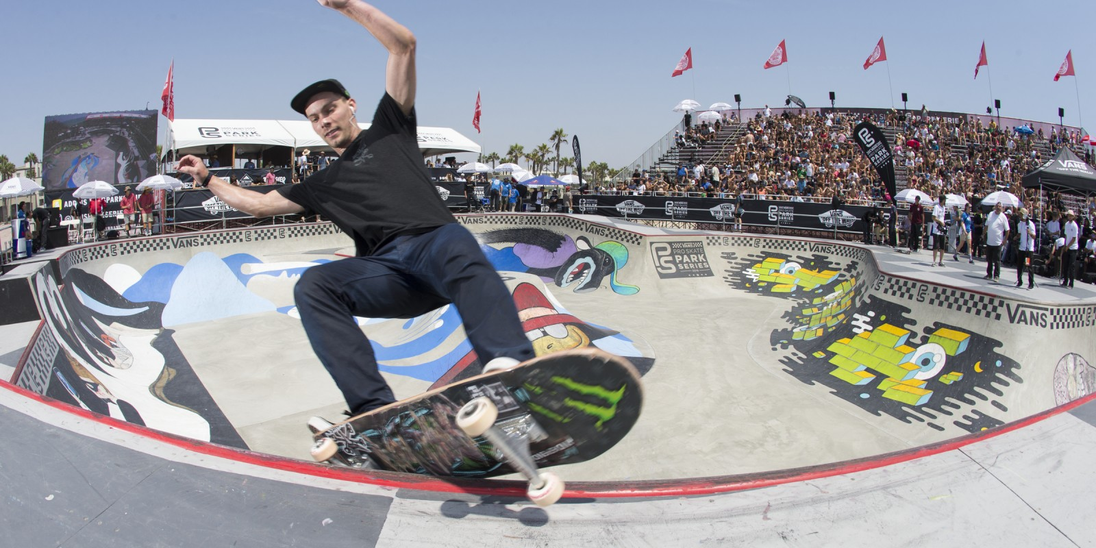 Ben Hatchell during the 2016 Vans Skatepark Series Contest in Huntington Beach, California