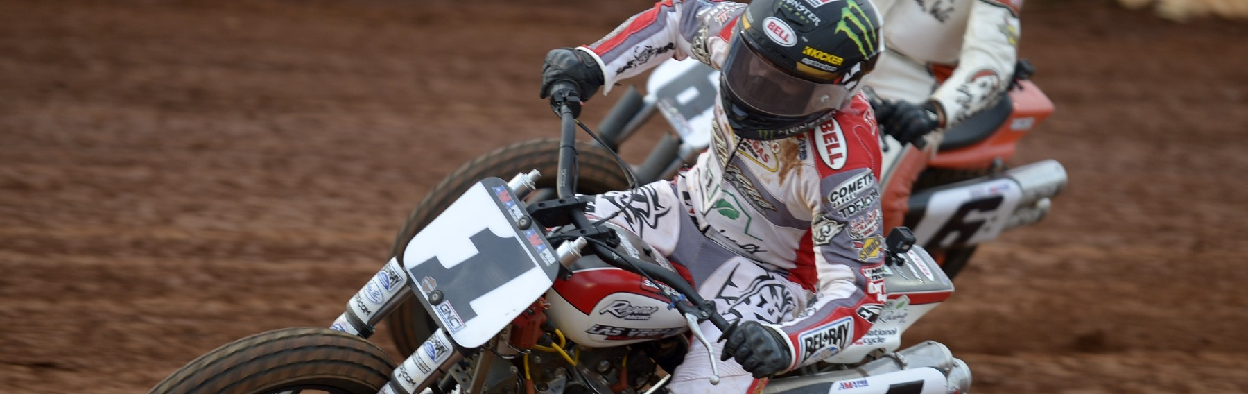 Jared Mees during the 2016 AMA Pro Grand National Flat Track in The Dirt Track at Charlotte, North Carolina