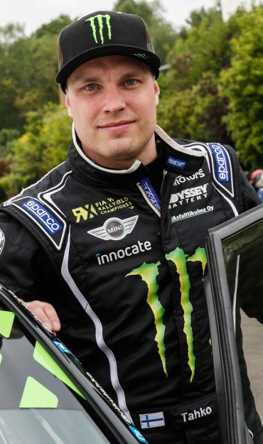 Riku Tahko at round three of the 2015 FIA World Rallycross Championship