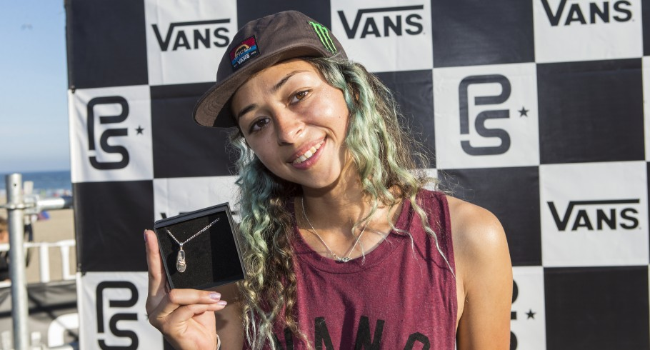 Lizzie Armanto during the 2016 Vans Park Series in Huntington Beach, California