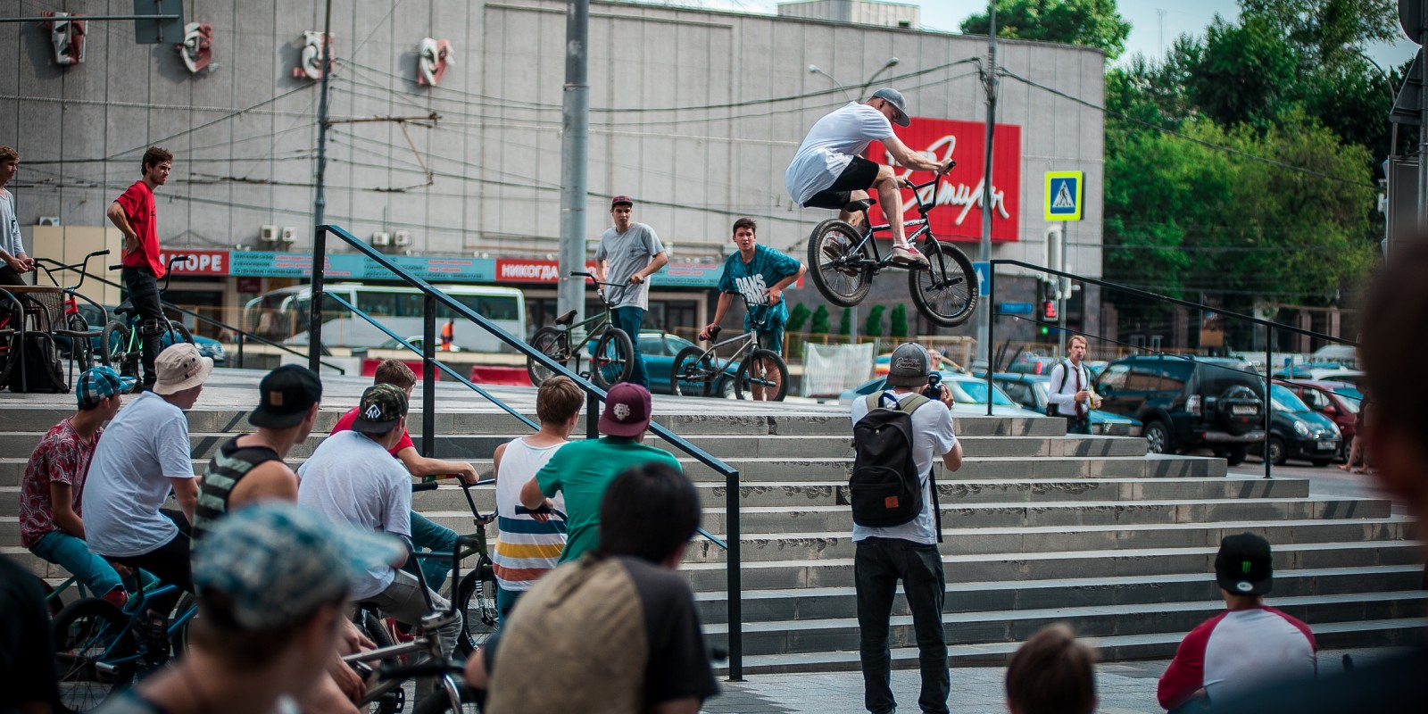 BMX riders take the streest for BMXDAY in Moscow