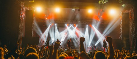 Stage performance and crowd imagery from Metaldays 2016, Tolmin