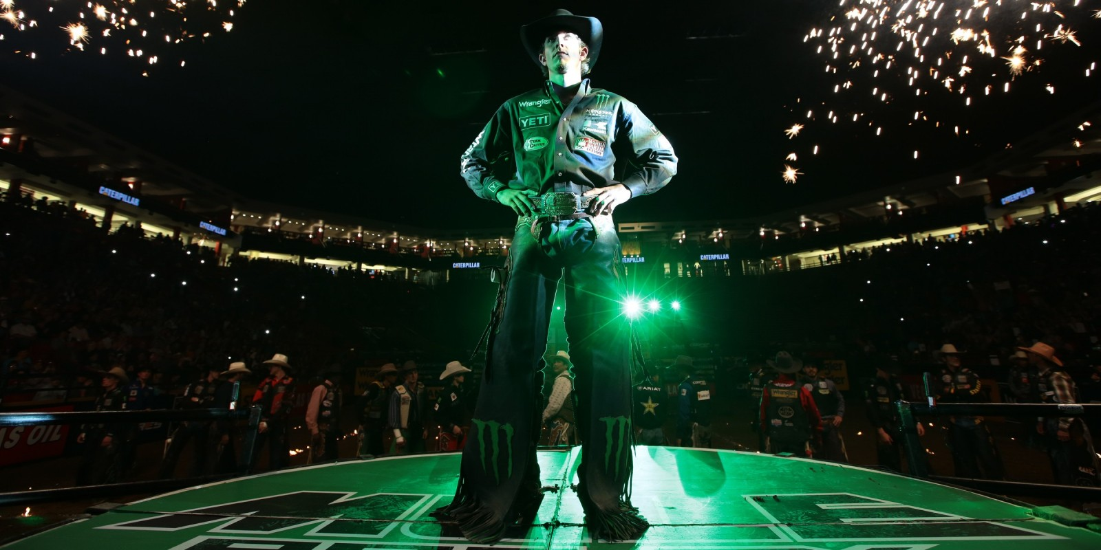 JB Mauney in the opening during the second round of the Albuquerque Built Ford Tough Series PBR