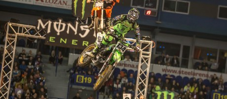 Monster Energy Racing Team's Filip Neugebauer at the 2016 Europe Stars Supercross Tournament 2016