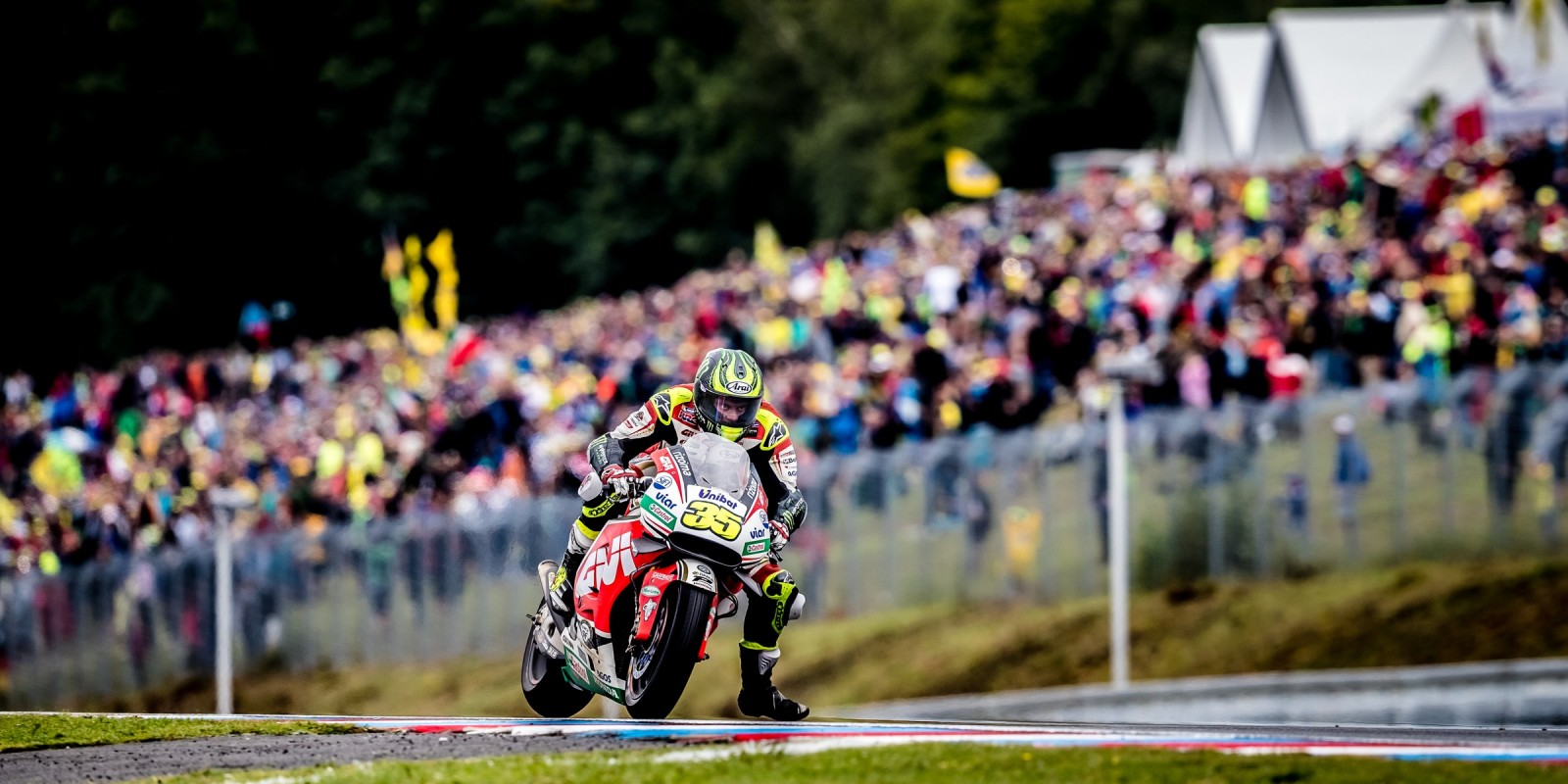 Cal Crutchlow at the 2016 MotoGP round 18 in Brno, Czech Republic