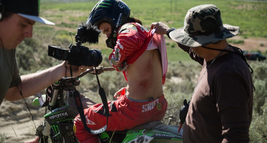 Action, Lifestyles and ambient photos from the making of X-Games RealMoto, Kris Foster