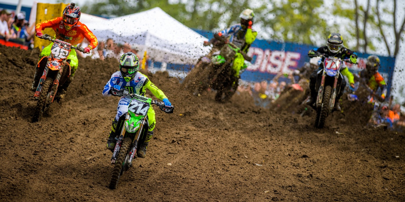 Austin Forkner during the 2016 Pro MX Nationals in Iron Man Raceway Crawfordsville, Indiana