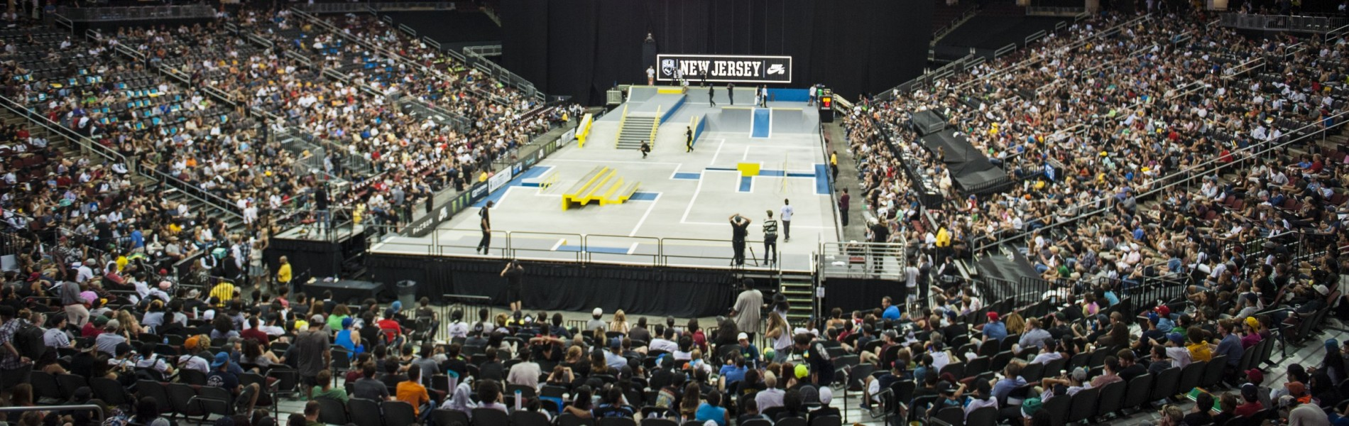 The Skate Course from the 2016 Street League Series in Newark, New Jersey