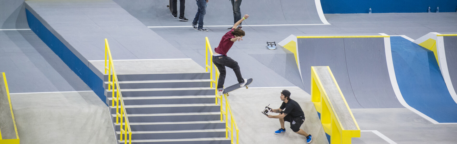 Kyle Walker competing at the 2016 Street League Series in Newark, New Jersey