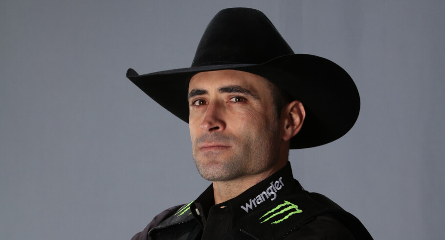 Guilherme Marchi during the 2016 PBR season at a studio shoot in Oklahoma City, OK