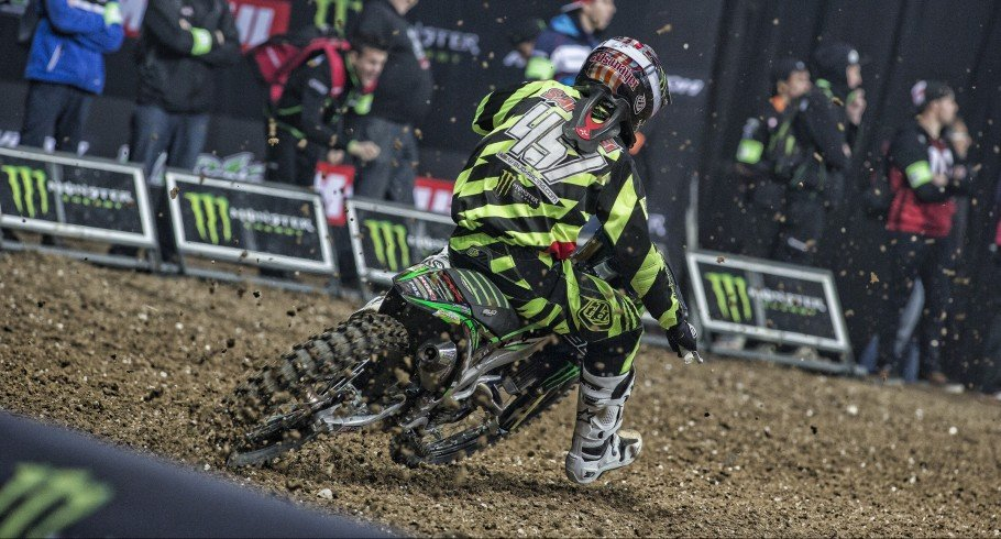 Darian Sanayei at the 2015 Supercross in Stade Pierre Mauroy