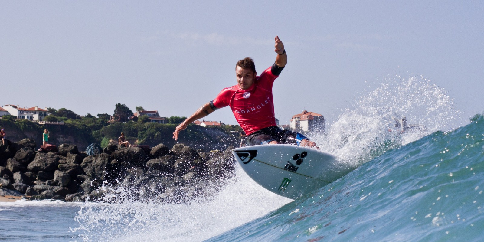 Marc Lacomare at the 2016 Pro Anglet in Anglet, France