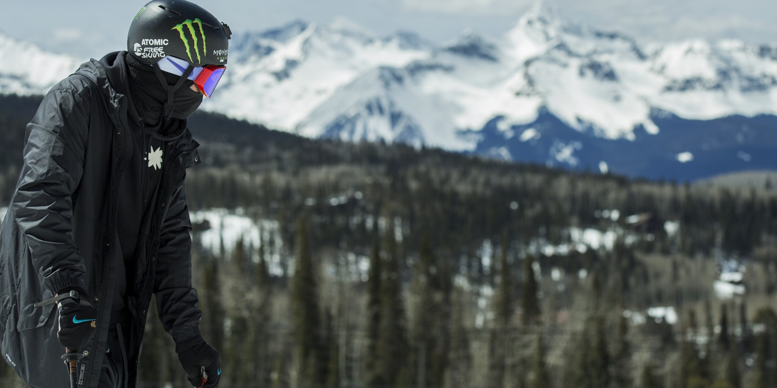 Gus Kenworthy at a private video shoot in Telluride, CO