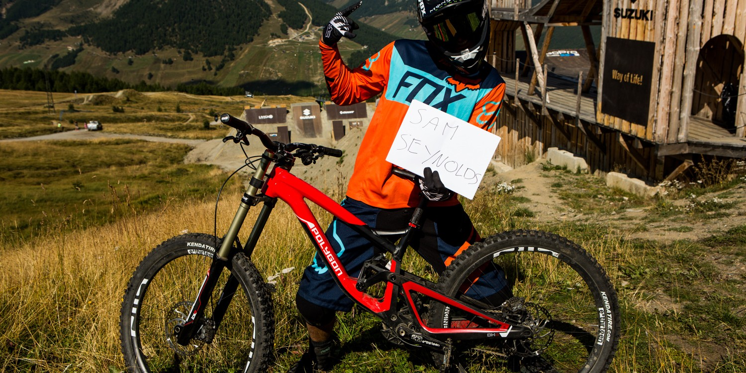 Sam Reynolds at day 1 of the 2015 Nine Knights in Livigno, Italy