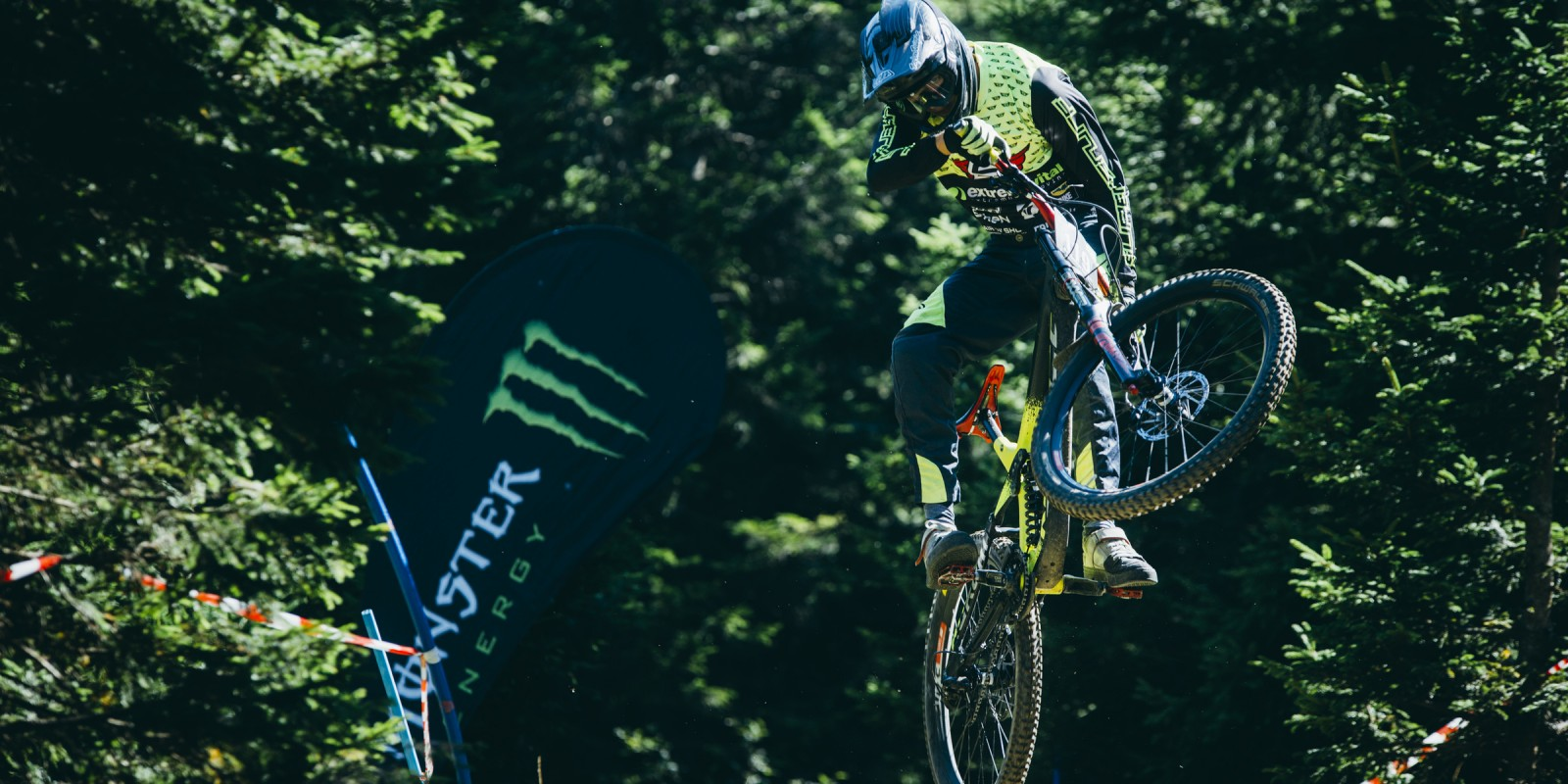 Pneultimate downhill race of Slovenian DH cup at Soriška planina, Slovenia.