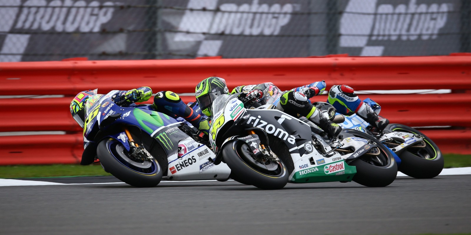 Monster athletes during the 2016 MotoGP season in Silverstone, UK