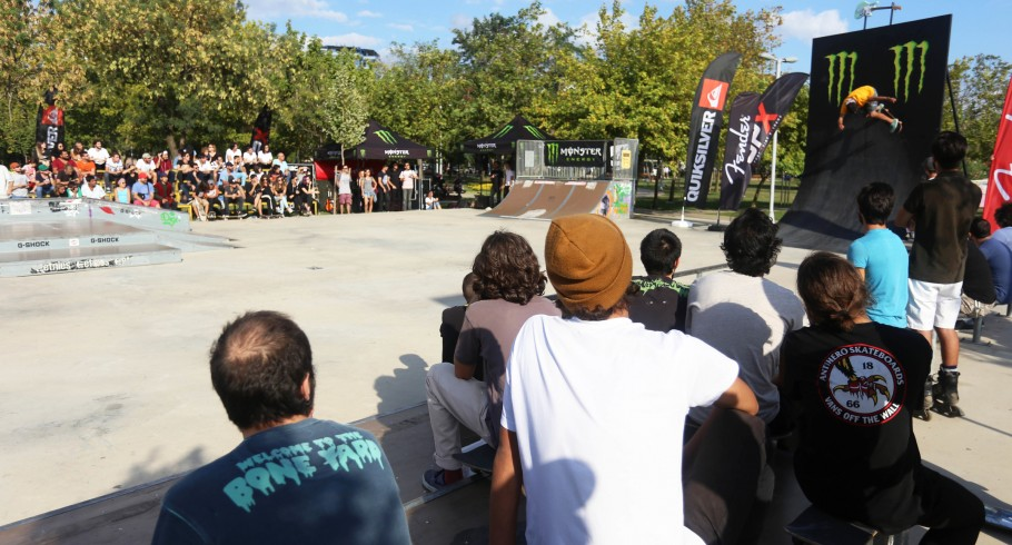Event shots from the Ala Skateboards Wallride Jam - no local athletes involved - we sponsored the event - branding on the place