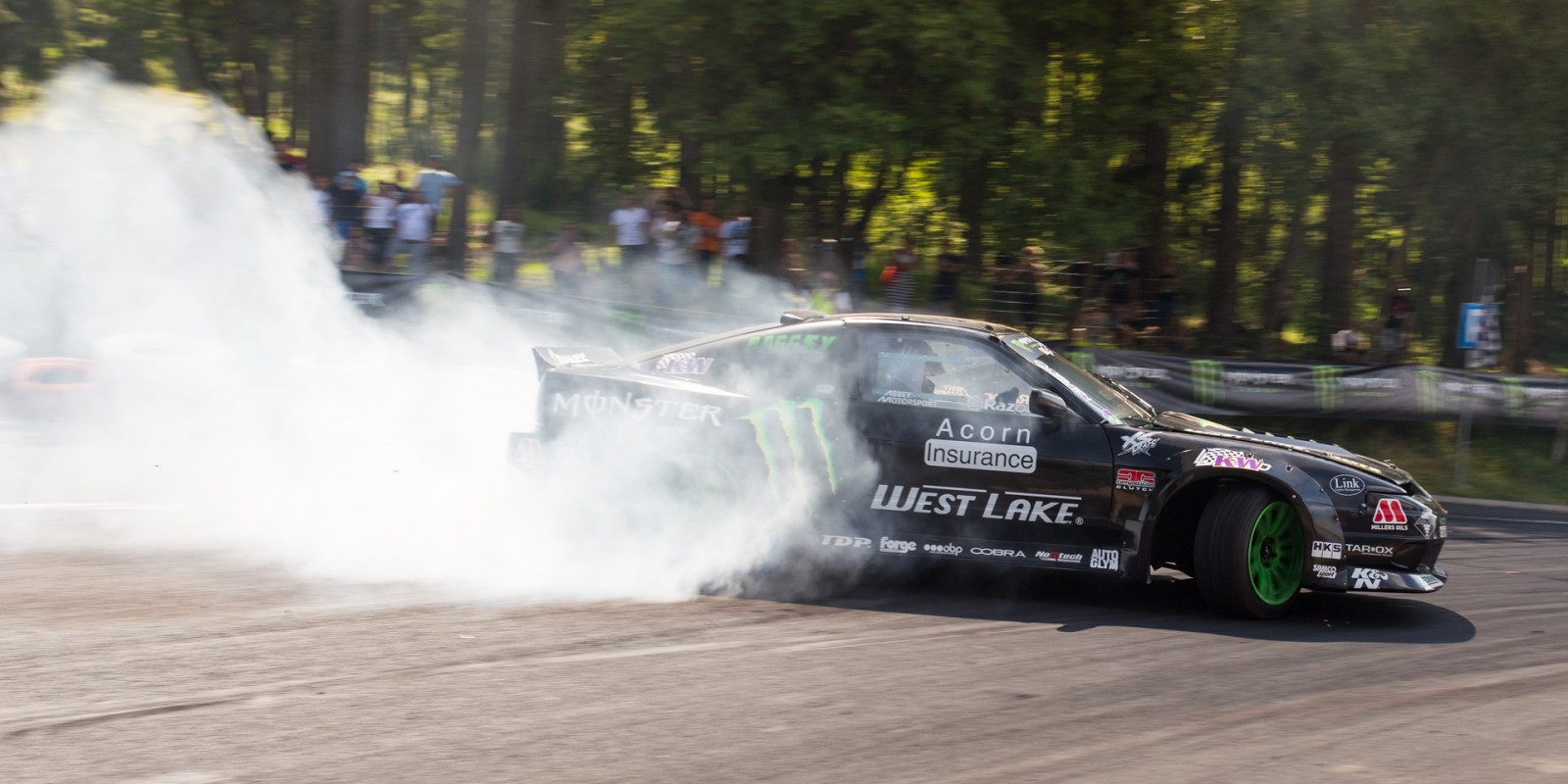 Steve Baggsy Biagioni at round two of the 2015 King of Europe Drift Pro Series, hosted in Poland